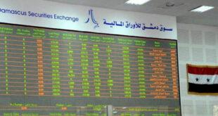 تداول نحو 40 ألف سهم في بورصة دمشق بحوالي 40 مليون ل.س
